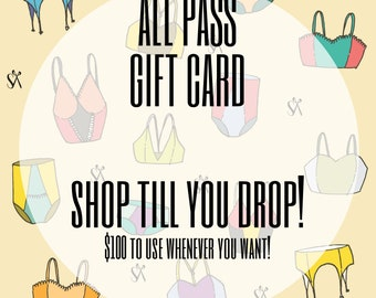 ALL PASS Gift Card - 100 dollars to spend at Salem's Scissors!