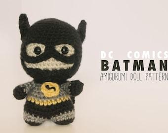 Batman Amigurumi Doll // DC Comics Crochet Pattern // Instant Download