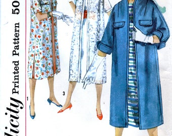 Simplicity 1912 Vintage 50s Sewing Pattern for Misses' Coat - Uncut - Size 16 - Bust 36