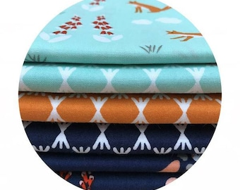 6 Piece Bundle - Foxglove Collection by Aneela Hoey for Cloud9 Fabrics
