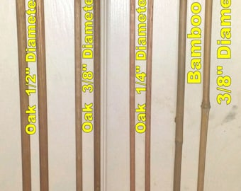 Oak and Bamboo Canes for Biblical Discipline - Various Lengths - Priced to sell!