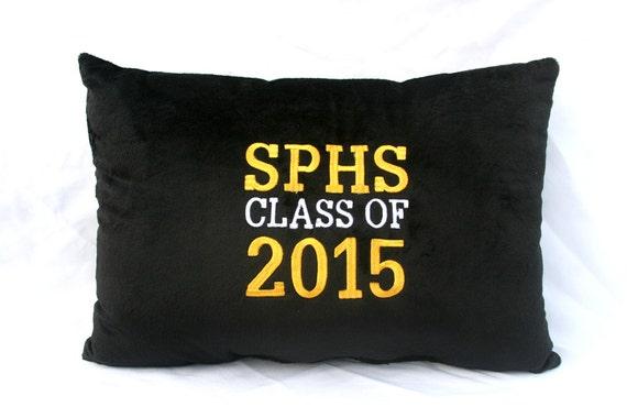 Customized Pillow Class of 2015