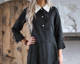 60's Vintage polka dot dress