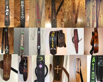 Full custom leather guitar strap.  Let's have some fun with it.