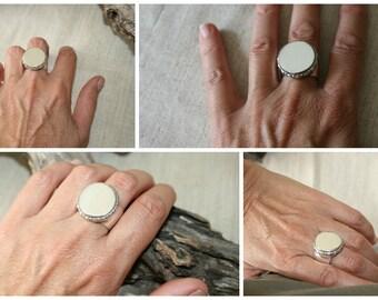 Signet Ring, Sterling Silver Ring ,Silver Ring, Silver Jewelry,Handmade Ring, Statement Ring