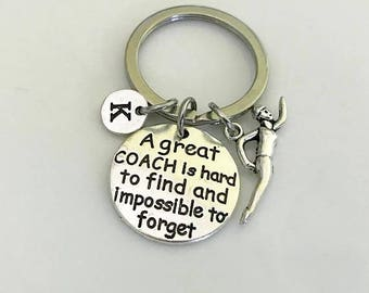 Swimmer keychain, Gift for swim Coach A great coach is hard to find and impossibleto forget, Personalized gift, swim team gift Swim keychain