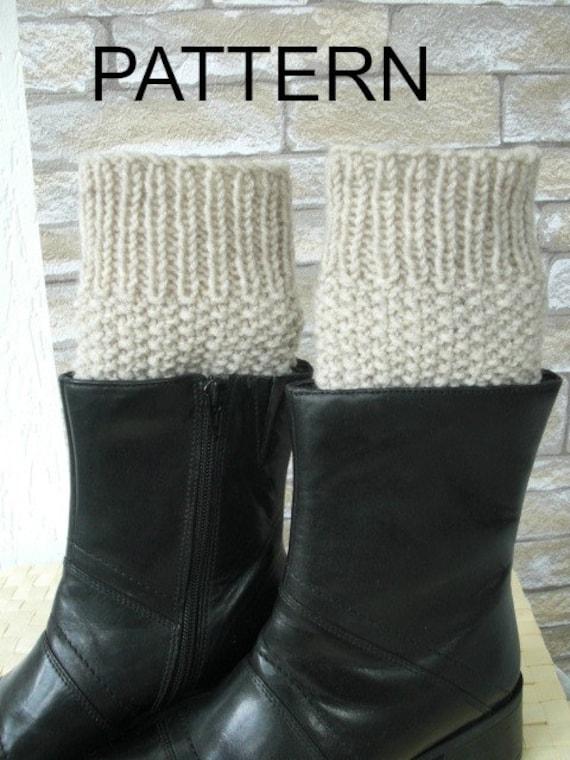 Instant Download Knitting Pattern Boot Cuffs Pattern Digital Boot