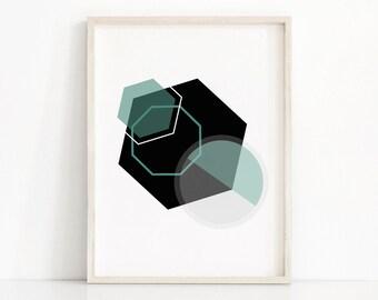 Geometric Wall Art Print, Instant Download Printable Art, Modern Art, Abstract Geometric Print, Digital Download Art, Modern Printable Decor