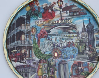 Souvenir of New Orleans, Louisiana State Souvenir, New Orleans Points of Interest, Serving Tray, New Orleans, Louisiana Souvenir
