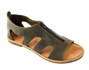 "Greek Leather Sandals ""irene"" code #175"
