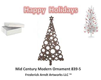 839-5 Mid Century Modern Christmas Ornament