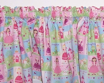 Pink Princess Tiara Castle Nursery Girls Room Curtain Valance
