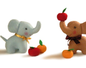 Elephant sewing pattern, baby toy sewing pattern