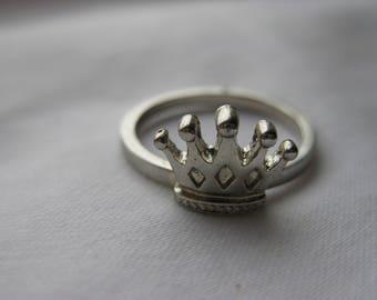 steel crown ring
