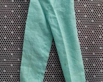 Vintage Barbie Blue Pak Pajama Pants 1960's
