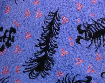 Vintage Unique Indigo Floral Pattern Tube Top Jumpsuit