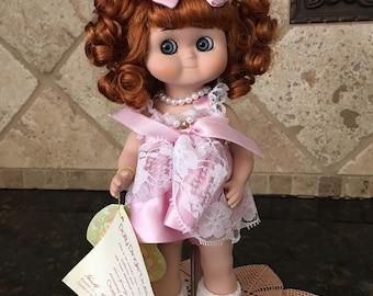 Goebel Dolly Dingle Limited Ed Birthstone Vinyl Doll Light Amethyst Blossom