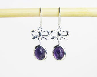 Amethyst Jewelry For Wife, Gift Jewelry For Wife, Purple Gift Jewelry For Wife,  February Birthstone Jewelry For Her, Amethyst Earrings