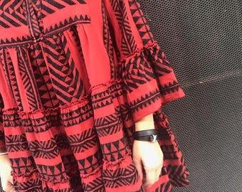 """Boho Red & Black """"Divi"""" dress"""