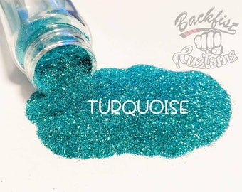 TURQUOISE || Opaque Fine Glitter, Solvent Resistant