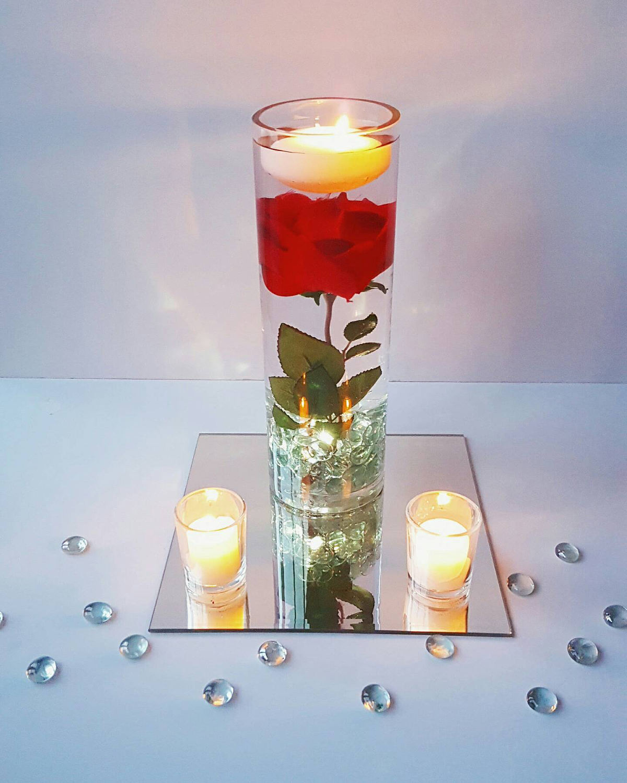 Floating Rose Centerpiece: Floating Candle Centerpiece Rose Centerpiece Beauty And The