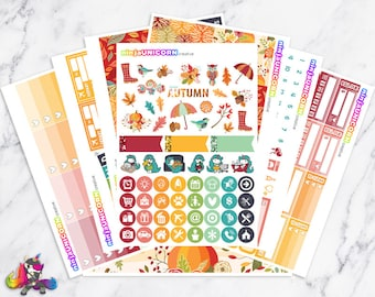 Hello Autumn || Planner Sticker Kit, Autumn, Fall, Planner Stickers, Planner Kit, Autumn Stickers, Fall Stickers