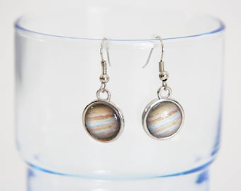 Planet Earrings Cosmos Dangles Space Universe Nebula Stars Astronomy - perfect gift for anyone