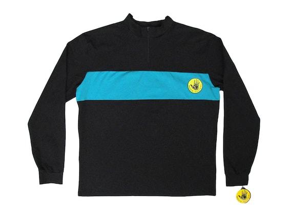 Body Glove Half ZIp Black & Blue L/S Shirt