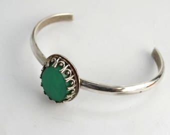 Chrysophrase bracelet