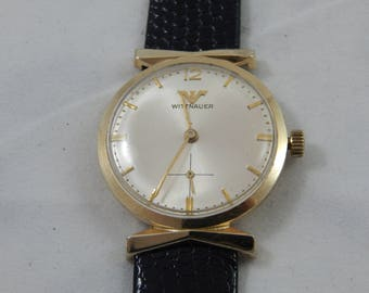 Vintage Longines Whitnauer Wrist Watch 10 Kt Gold Plated
