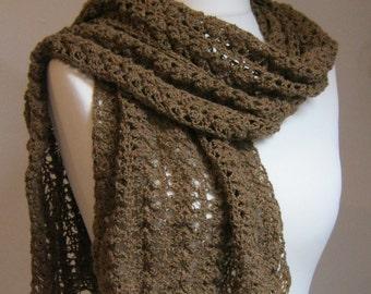 Crochet Pattern - Little Owl Shawl -  Cotton Lacy Scarf - Instant Download PDF