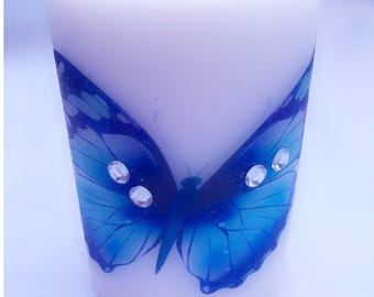 Hand printed pillar candle