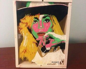 Lady Gaga Wooden Shadow Box