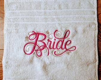 Personalised Wedding Facecloths