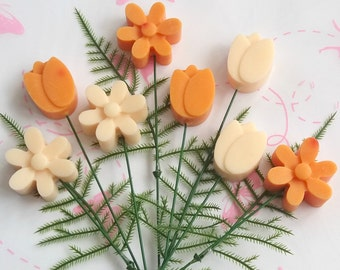Soy Wax Melt Bouquet, Mother's Day, Gift For Her, Vegan Gift, Thank You Gift, Fruity Aromas, Tangerine, Plumberry, Housewarming Gift, Vegan