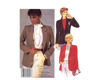 Misses Lined Buttoned Jacket Palmer & Pletsch McCalls 2112 Vintage Sewing Pattern UNCUT Different Sizes Available