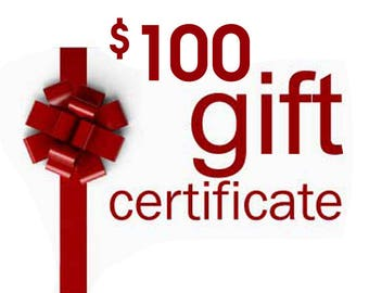 Gift Certificate, Gift Card Anything Photos Custom Personalized Artwork and More, Gift Card, 100 dollar value