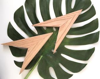 Wood Arrow Wall Art, Modern Arrows, Geometric Arrow Wall Art