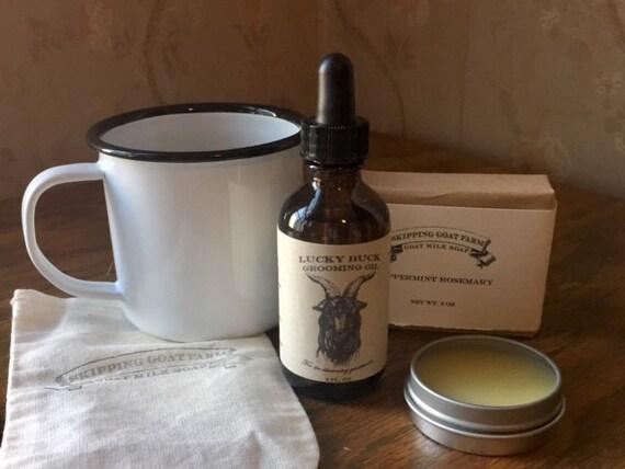 Lucky Buck Grooming and Shaving oil with Sandalwood, Bergamot, Lavender 2oz