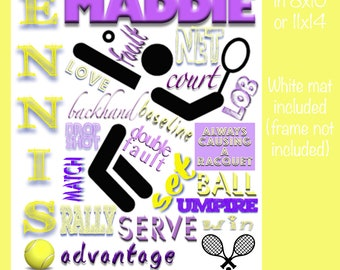 Personalized Tennis Collage