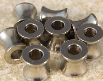 Large Flared Stainless Steel Tube Beads