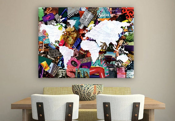 World map art print map decor graduation gift wanderlust like this item gumiabroncs