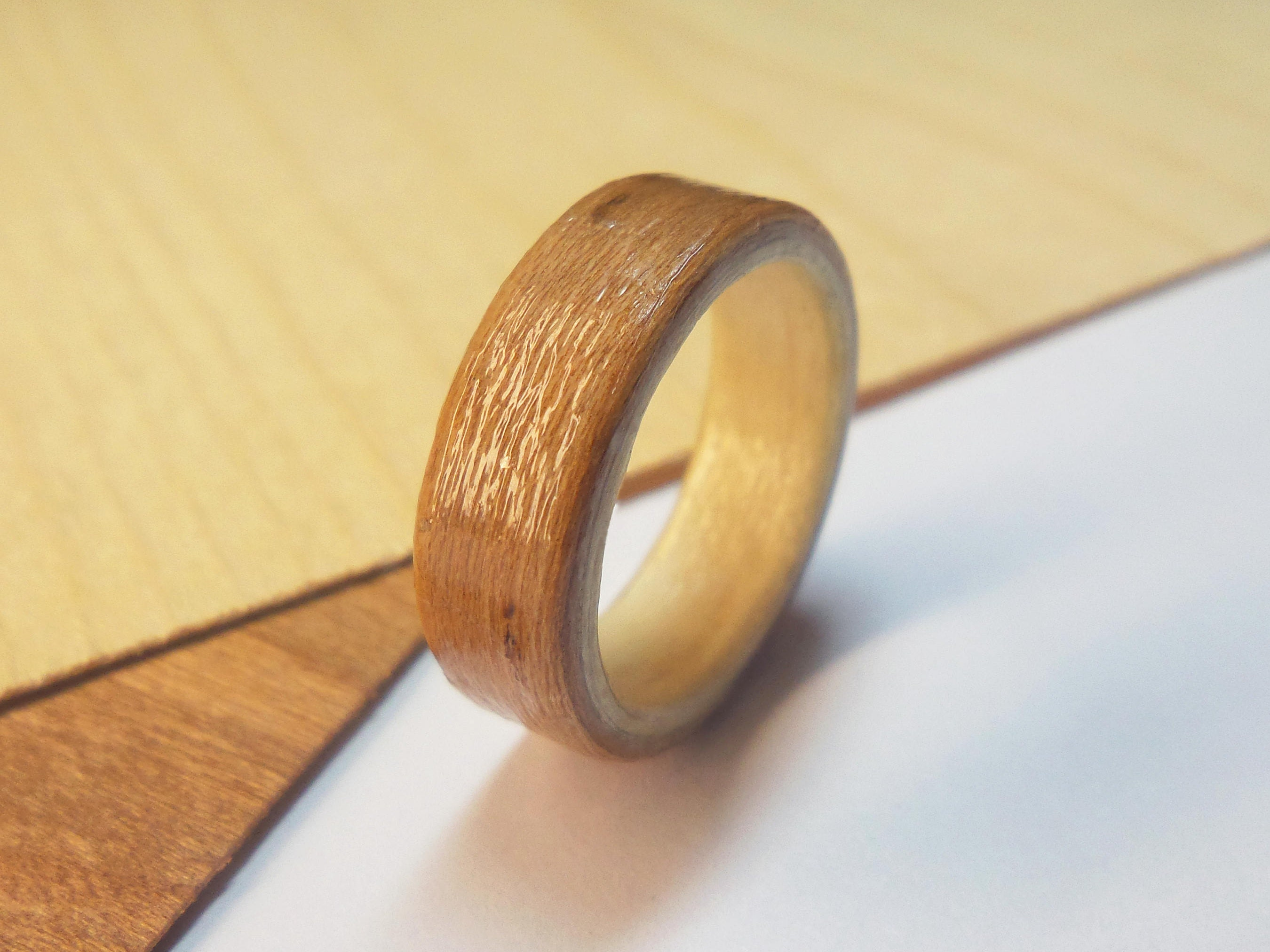 silver antler inlay ring with wood rings jewellery deeer pin and maple grey