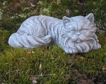 Attractive Cat Statue, Concrete Cat Statues, Long Haired Cat Figure, Concrete Statues  Of Cats