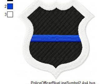 Thin Blue Line Badge Afghan Pattern Fun And Easy For