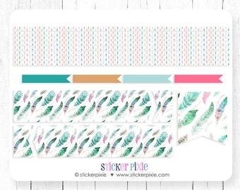 Planner Stickers Horizontal Header Sticker Set, Matches vertical November Planner Stickers Set 4