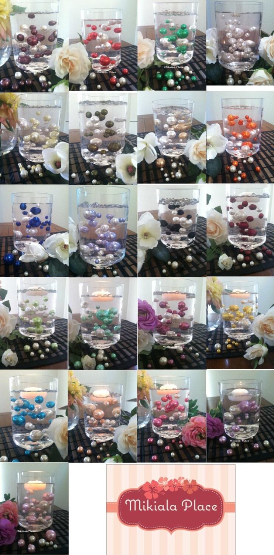 80pc decorative pearl fillers 2 color vase filler floating zoom reviewsmspy