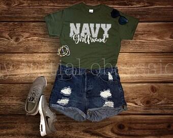 Navy Girlfriend Short Sleeve Tee