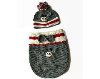 PDF Pattern, Newborn  pattern, CROCHET PATTERN, Photo prop pattern  Baby Pattern, Crochet cocoon pattern