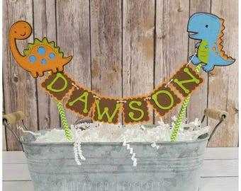 Dinosaur Cake Bunting, Dinosaur Cake Topper, Cake Smash